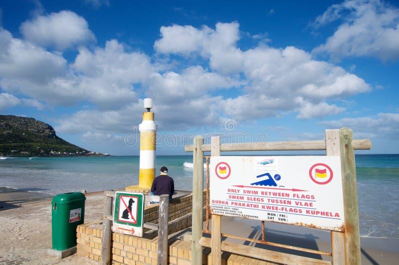 Spiaggia di attacco dello squalo fotografia stock