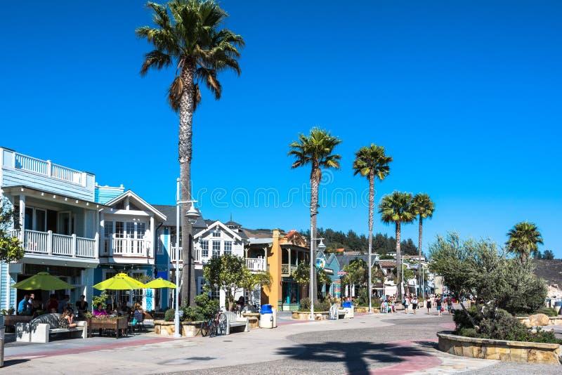 Spiaggia di Avila, California fotografia stock