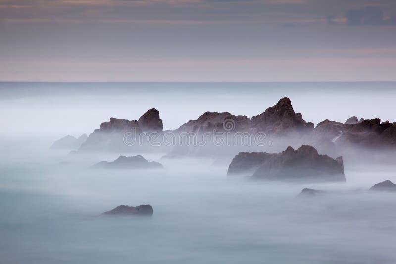 Spiaggia di Azkorri, Getxo fotografia stock