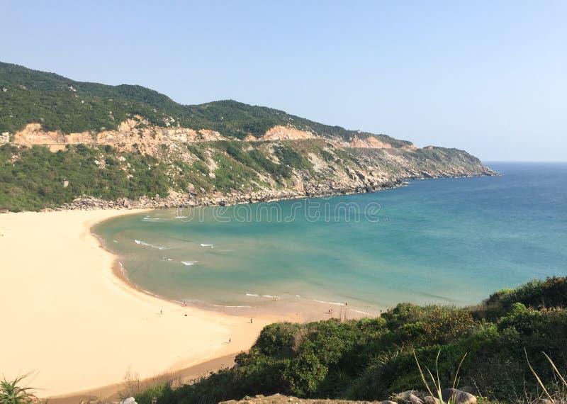 Spiaggia di Bai Mon al villaggio di Dal Lanh in Phu Yen, Vietnam fotografia stock libera da diritti