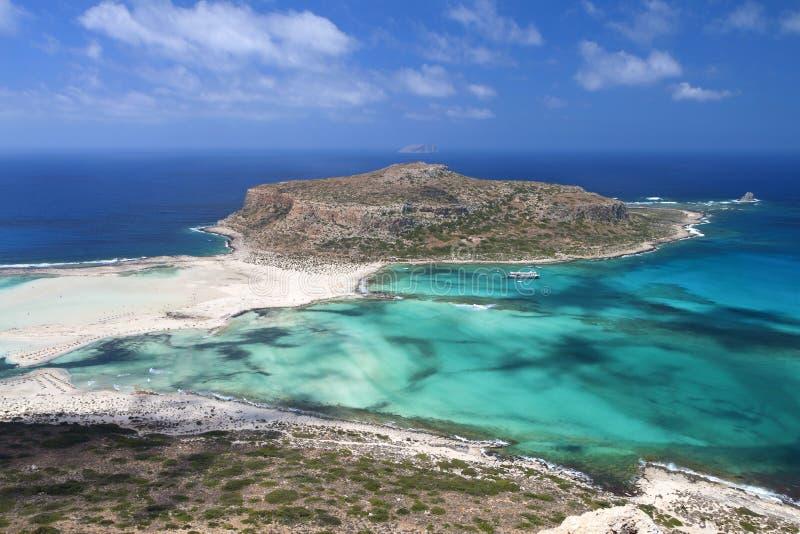 Spiaggia di Balos all'isola del Crete in Grecia fotografia stock
