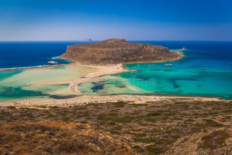 Spiaggia di Balos e laguna, prefettura di Chania, Creta ad ovest, Grecia fotografia stock libera da diritti