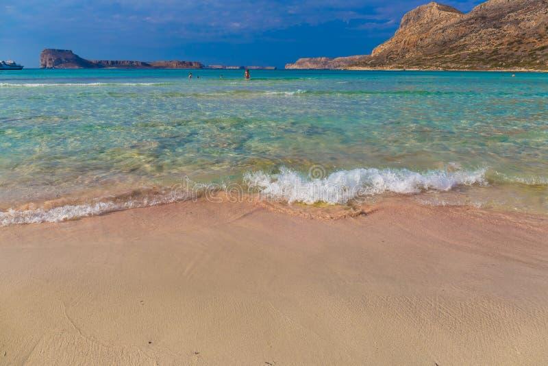 Spiaggia di Balos e laguna, prefettura di Chania, Creta ad ovest, Grecia fotografie stock