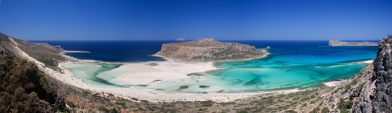 Spiaggia di Balos, penisola di Gramvousa, Crete, Grecia immagine stock libera da diritti