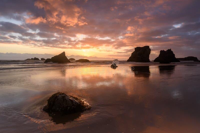 Spiaggia di Bandon fotografie stock libere da diritti