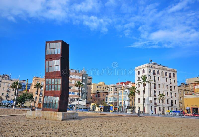 Spiaggia di Barceloneta, Barcellona fotografie stock libere da diritti