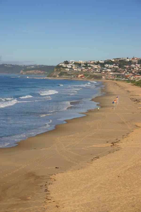 Spiaggia di barra - Newcastle Australia fotografie stock