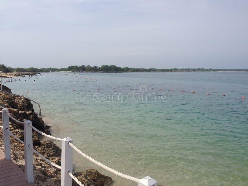 Spiaggia di Baru a Cartagine Colombia fotografia stock