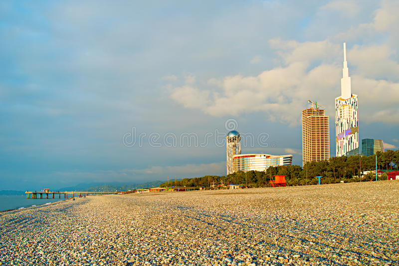 Spiaggia di Batumi, Georgia fotografia stock libera da diritti