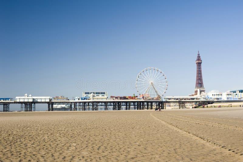 Spiaggia di Blackpool fotografia stock