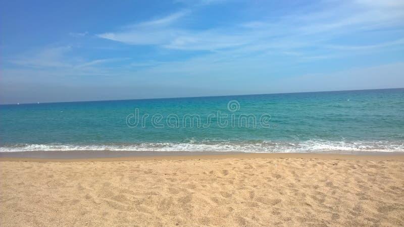 Download Spiaggia di Blanes fotografia stock. Immagine di spain - 56889162