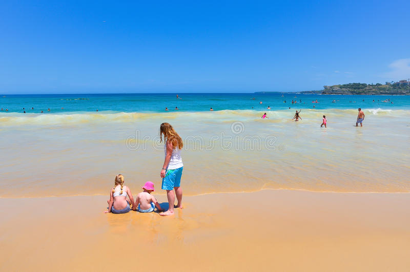 Spiaggia di Bondi, Sydney, Australia fotografia stock