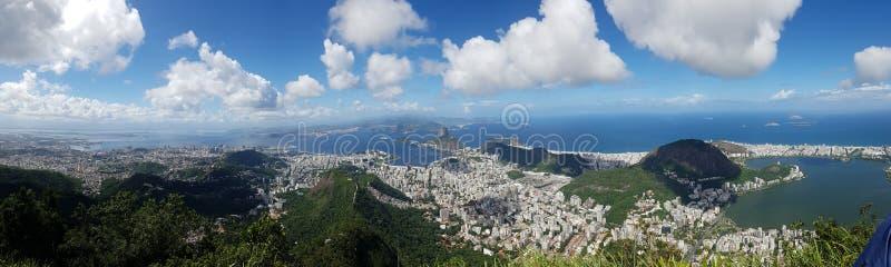 Spiaggia di Botafogo, Lagoa, landforms montagnosi, cielo, montagna, catena montuosa fotografia stock libera da diritti