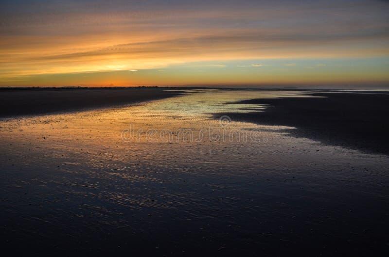 Spiaggia di Brancaster fotografia stock libera da diritti