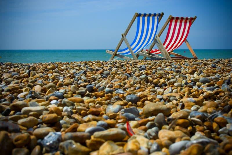 Spiaggia di Brighton. immagine stock