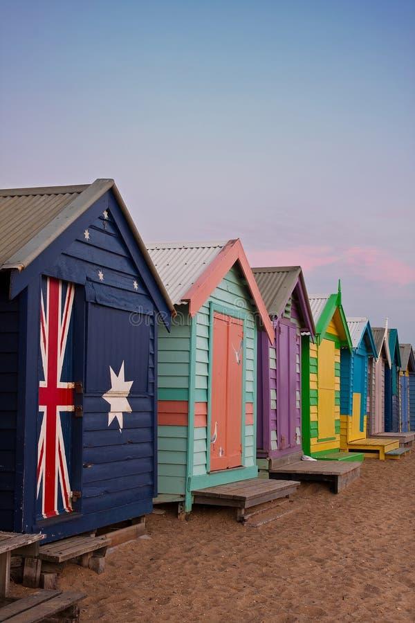 Spiaggia di Brighton, Melbourne fotografia stock libera da diritti