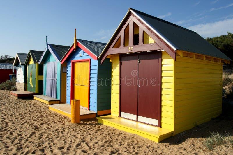 Spiaggia di Brighton, Melbourne fotografie stock libere da diritti
