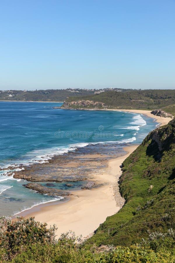 Spiaggia di Burwood - Newcastle Australia fotografia stock