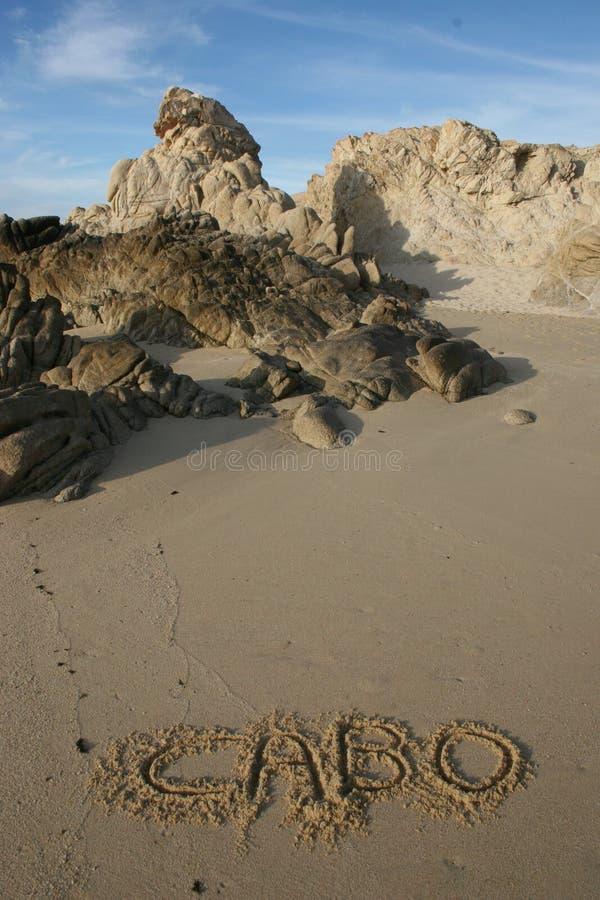 Spiaggia di Cabo fotografia stock libera da diritti
