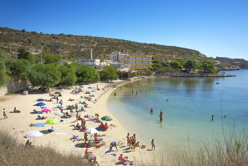 Spiaggia Di Calamosca Beach In Sardinia, Italy Editorial Image ...