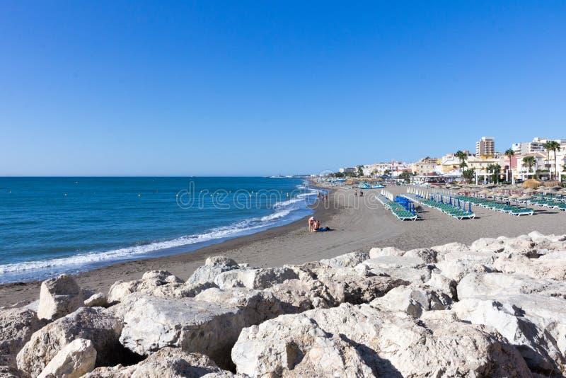 Spiaggia di Carihuela fotografia stock libera da diritti