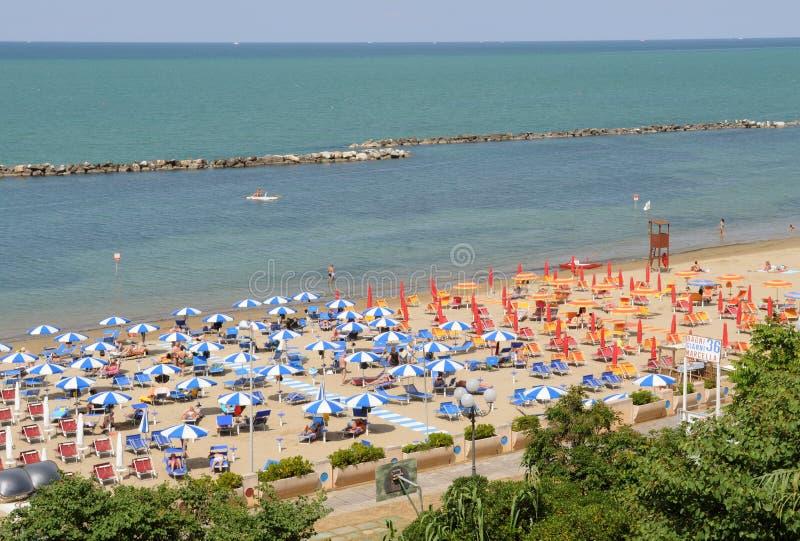Spiaggia di Cattolica, Rimini riviera fotografie stock