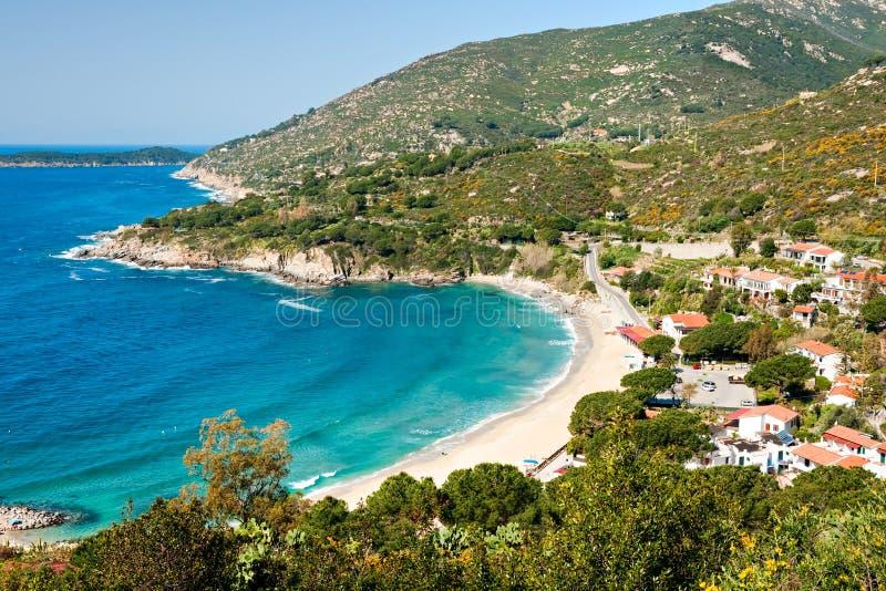 Spiaggia di Cavoli, isola dell'Elba. immagini stock