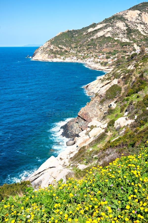 Spiaggia di Cavoli, isola di Elba, Italia fotografia stock