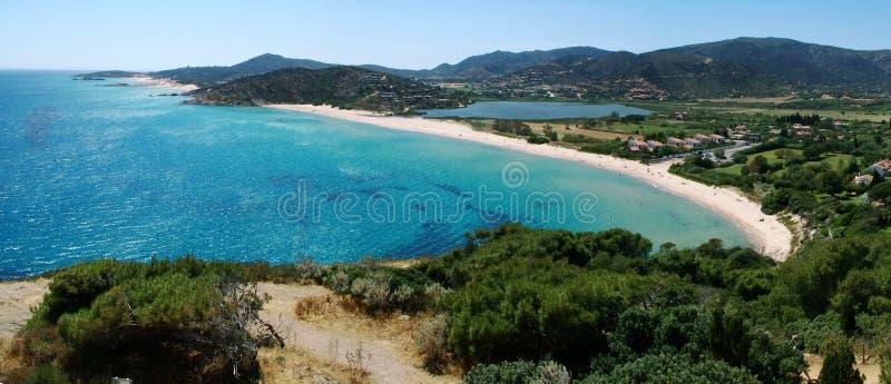 Spiaggia di Chia fotografia stock