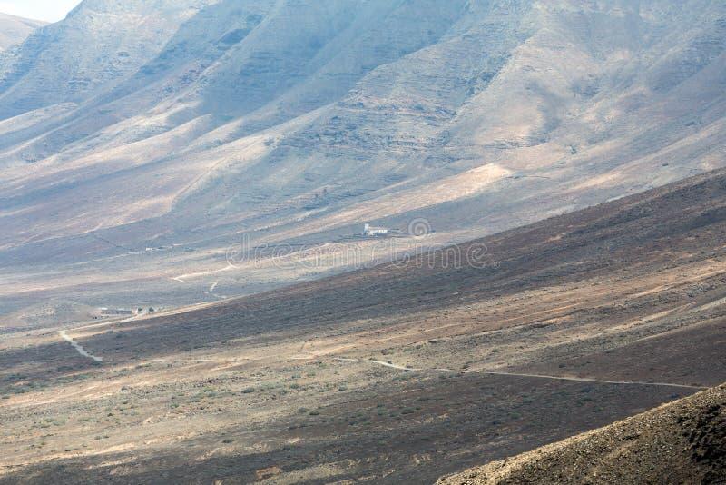 Spiaggia di Cofete, vista dalla penisola di Jandia, Fuerteventura, fotografie stock