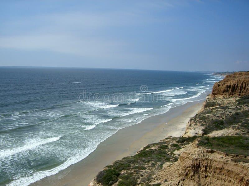 Spiaggia di condizione dei pini di Torrey fotografie stock
