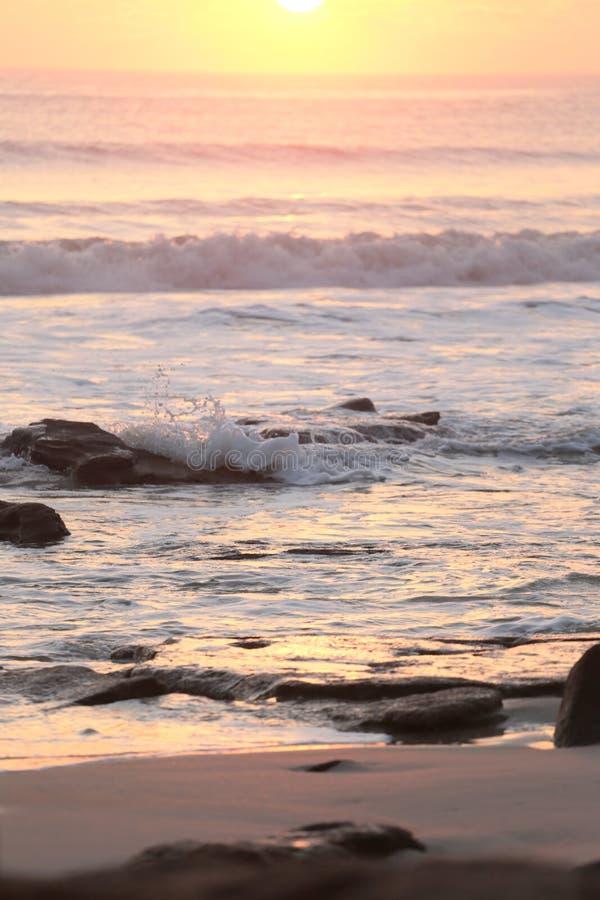 Spiaggia di Cresent, alba di Florida fotografie stock libere da diritti