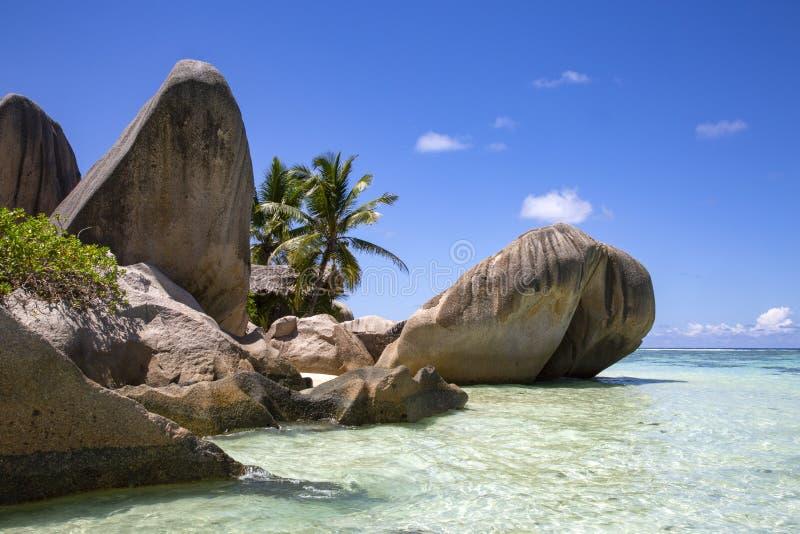 Spiaggia di Digue della La immagini stock libere da diritti