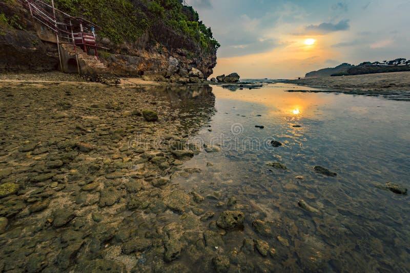 Spiaggia di Drini nella sera fotografia stock