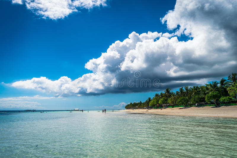 Spiaggia di Dumaluan - di Panglao fotografia stock libera da diritti