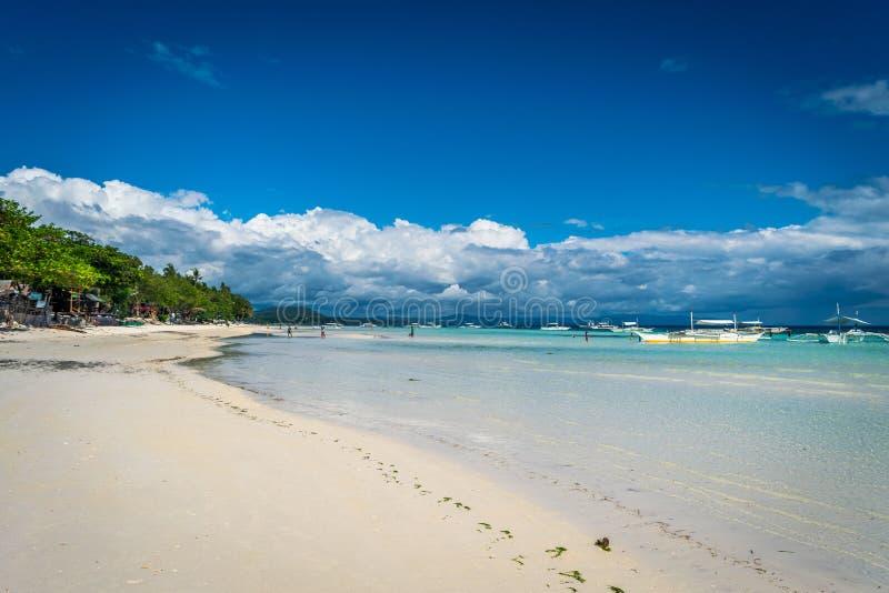 Spiaggia di Dumaluan - di Panglao fotografia stock