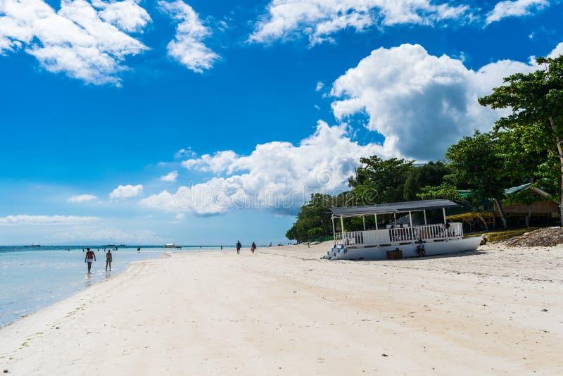 Spiaggia di Dumaluan - di Panglao immagini stock libere da diritti