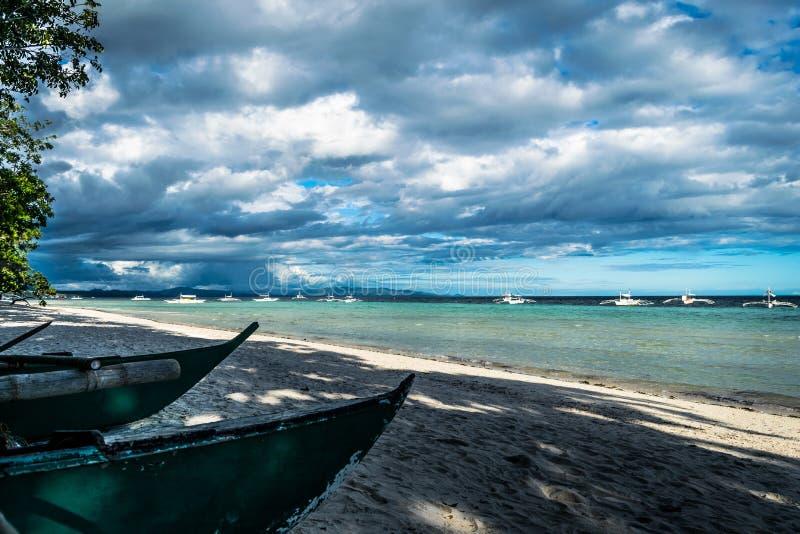 Spiaggia di Dumaluan - di Panglao immagine stock