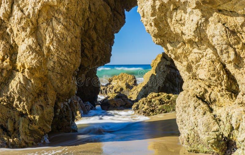Spiaggia di EL matador fotografie stock libere da diritti