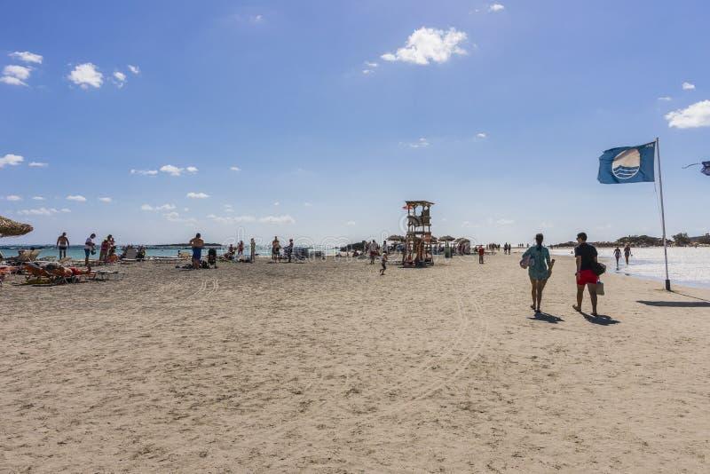Spiaggia di Elafonissi fotografie stock libere da diritti