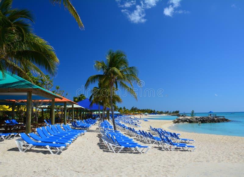 Spiaggia di Eleuthera, Bahamas immagine stock