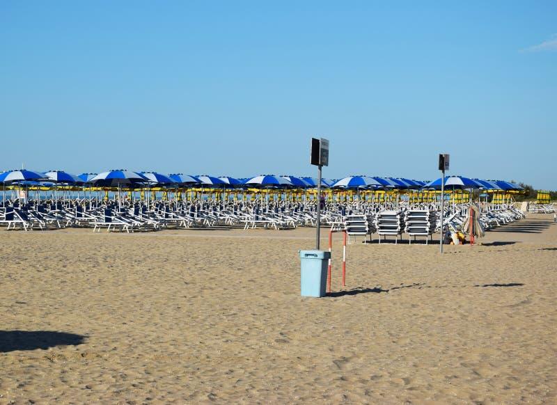 Spiaggia di Eraclea in Italia fotografia stock