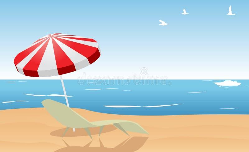 Spiaggia di estate illustrazione vettoriale