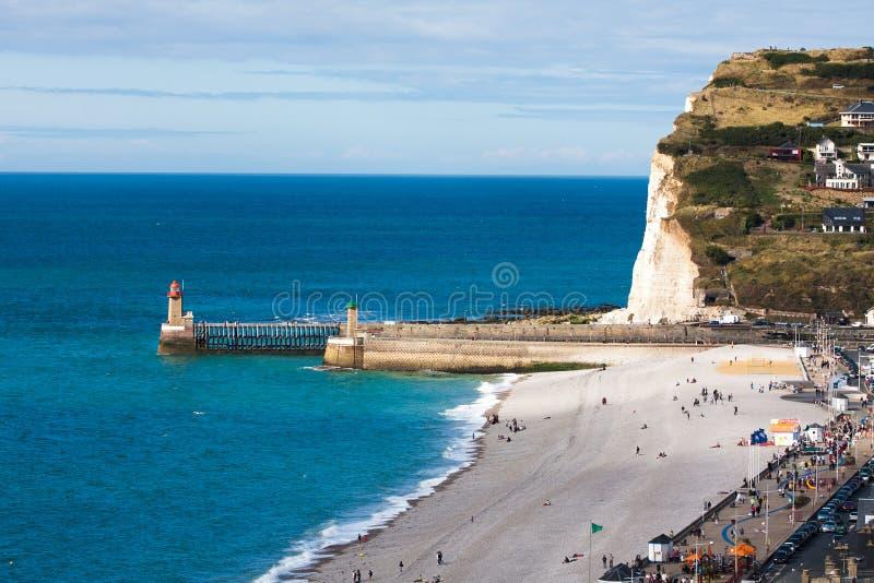 Spiaggia di Fecamp, Francia fotografia stock libera da diritti