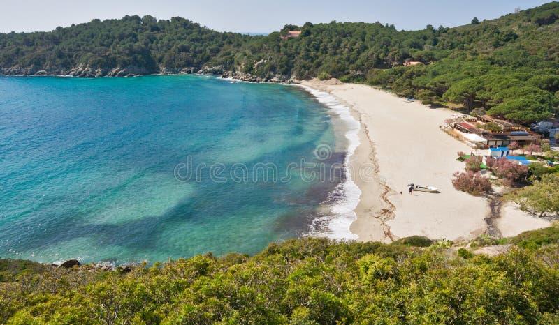 Spiaggia di Fetovaia, Marina di Campo, isola di Elba, AIS immagine stock