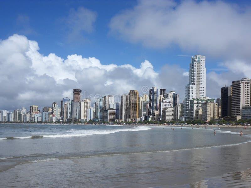 Spiaggia di Florianopolis, Brasile, ora legale fotografia stock libera da diritti