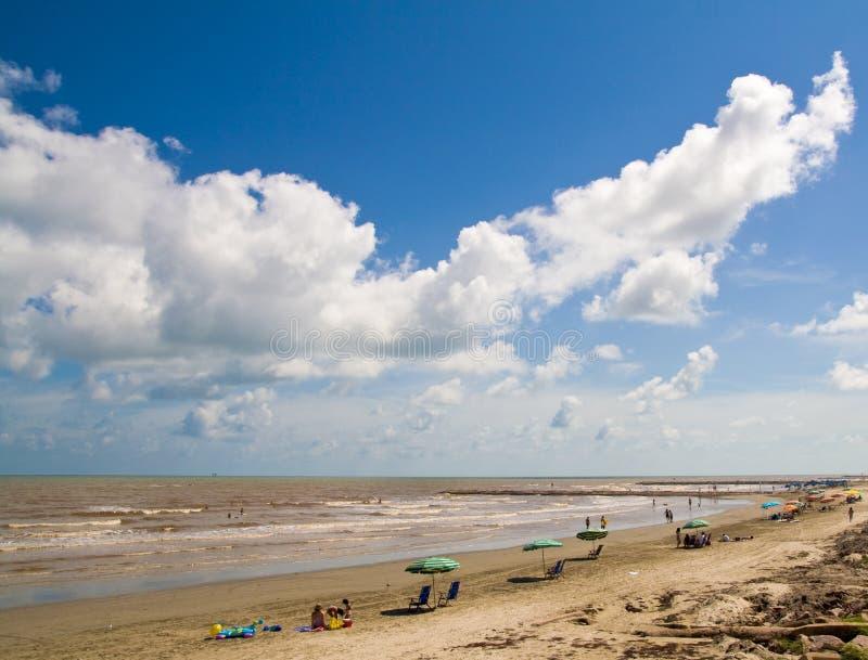 Spiaggia di Galveston fotografia stock libera da diritti