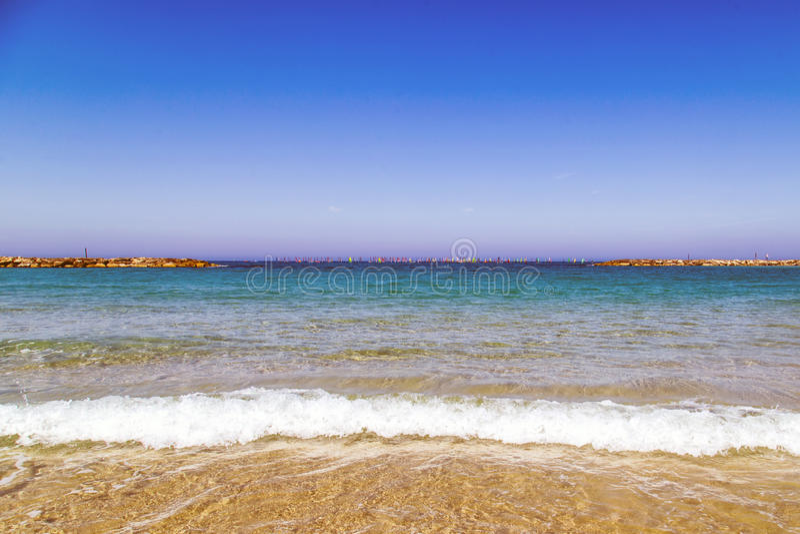 Spiaggia di Gerusalemme a Tel Aviv fotografia stock