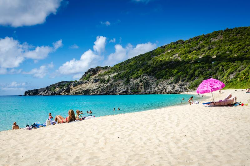 Spiaggia di Gouverneur - st Barths fotografia stock libera da diritti