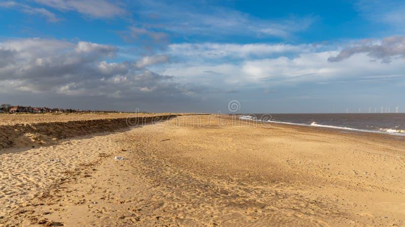 Spiaggia di Great Yarmouth, Norfolk, Inghilterra, Regno Unito fotografia stock libera da diritti